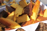 honey hush cornbread made from local sweet corn and buttermilk, served with local honey