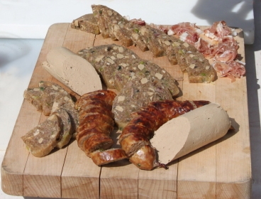 charcuterie assortments made entirely from on farm products