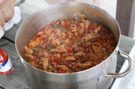 Smoked Oles Farm Chicken and Andouille Jambalaya
