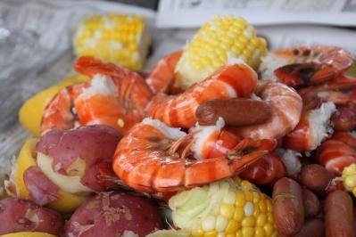 slow poached jumbo gulf shrimp